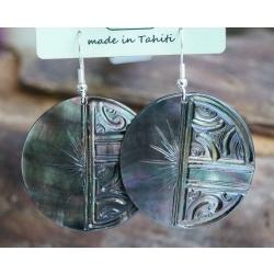 Boucles d'oreilles nacre de Tahiti N° 5