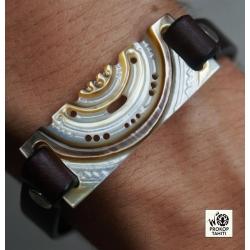 Bracelet cuir et Nacre N°2