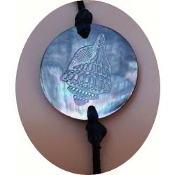Bracelet nacre motif coquillage N° 5