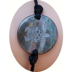 Bracelet nacre motif tortue marine N° 8