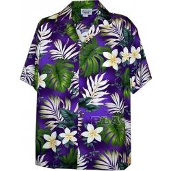 Chemise Hawaïenne SUNSHINE FLOWERS (violet)