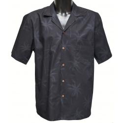 Chemise hawaienne BLACK ON BLACK
