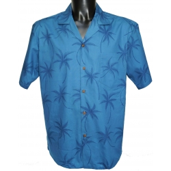 Chemise Hawaienne BLUE LIGHT ON BLUE