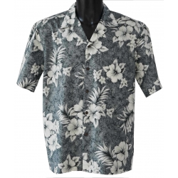Chemise Hawaienne CRACK HIBISCUS
