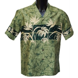 Chemise Hawaienne Foliage Band Green