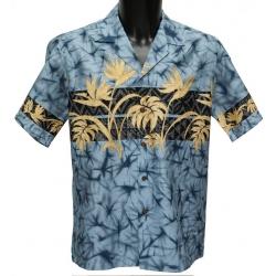 Chemise Hawaienne Foliage Band Slate