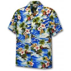 Chemise Hawaienne HAWAII BLEU