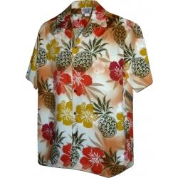 Chemise Hawaienne HIBISCUS ET PINEAPPLE