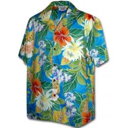 Chemise Hawaïenne MAUNA LANI BLUE