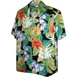 Chemise Hawaïenne MAUNA LANI NOIR