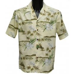 Chemise Hawaienne Orchid Cream
