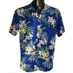 Chemise hawaienne ORCHID GINGER Bleue