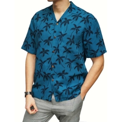 Chemise hawaienne PALM TREE IN DEEP