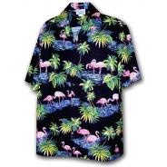 Chemise Hawaienne PINK FLAMINGO