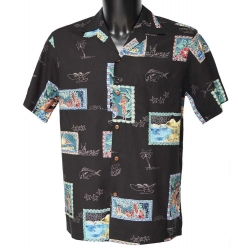 Chemise hawaienne POSTCARDS