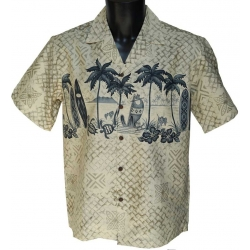 Chemise Hawaienne Surf Mat grey