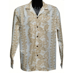 Chemise hawaienne TAUPE