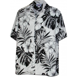 Chemise Hawaienne WHITE & BLACK