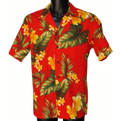 Chemise Hawaienne YELLOW FLOWERS