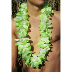 Collier de fleur Hawaï vert