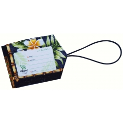 Etiquette Bagage Box of plumeria 2