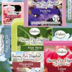 Lot de 6 savons parfums de fleurs