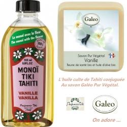 Lot Monoi Tiki Vanille/savon Vanille