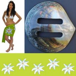 Mini paréo et sa boucle tahitienne N°3