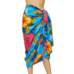 Pareo Indian Flowers turquoise