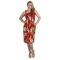 ROBE HAWAIENNE LEILANI RED