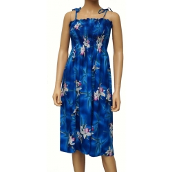 ROBE HAWAIENNE MIDNIGHT ORCHID BLEUE
