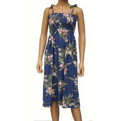 Robe Hawaienne PALI ORCHID PARME