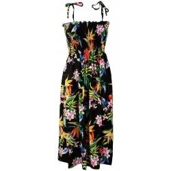 ROBE HAWAIENNE PASSION PARADISE NOIRE