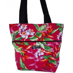 Sac fourre-tout reversible Hanging Heliconia rose