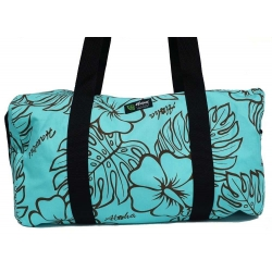 Sac polochon monstera lover turquoise