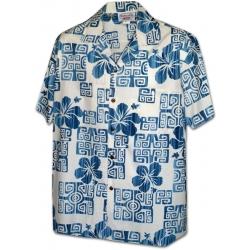 Chemise Hawaienne HAPUNA BEACH BLANCHE