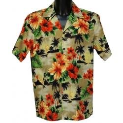 Chemise Hawaienne ALOHA KAKI