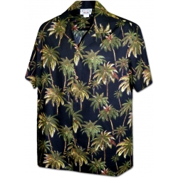 Chemise Hawa�enne COCOTIERS IN THE NIGHT