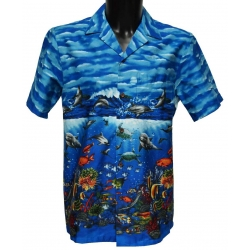 Chemise Hawaienne FONDS MARINS