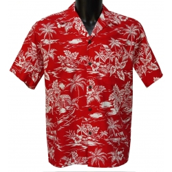 Chemise Hawaienne LOVE SHACK RED