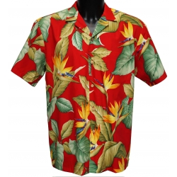 Chemise hawaienne OAHU Red