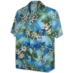 Chemise Hawaienne PAUWALU Bleue