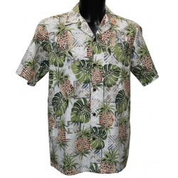 Chemise Hawaienne PINEAPPLE CHESSBOARD
