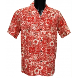 Chemise Hawaienne RED STAMPS