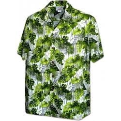 Chemise Hawaïenne TREILLE VERTE