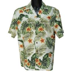 Chemise hawaienne YELLOW PLUMERIA