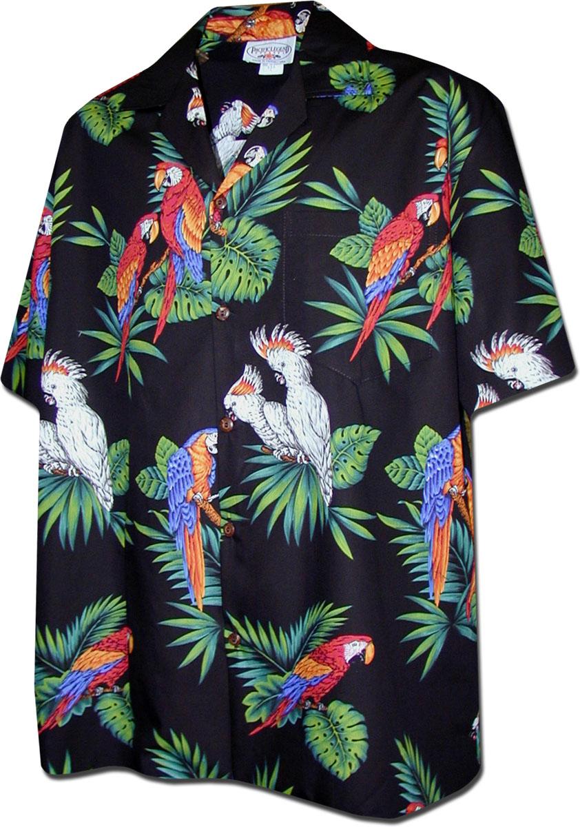 Messieurs Hawaii Chemise 100/% coton vogelprint