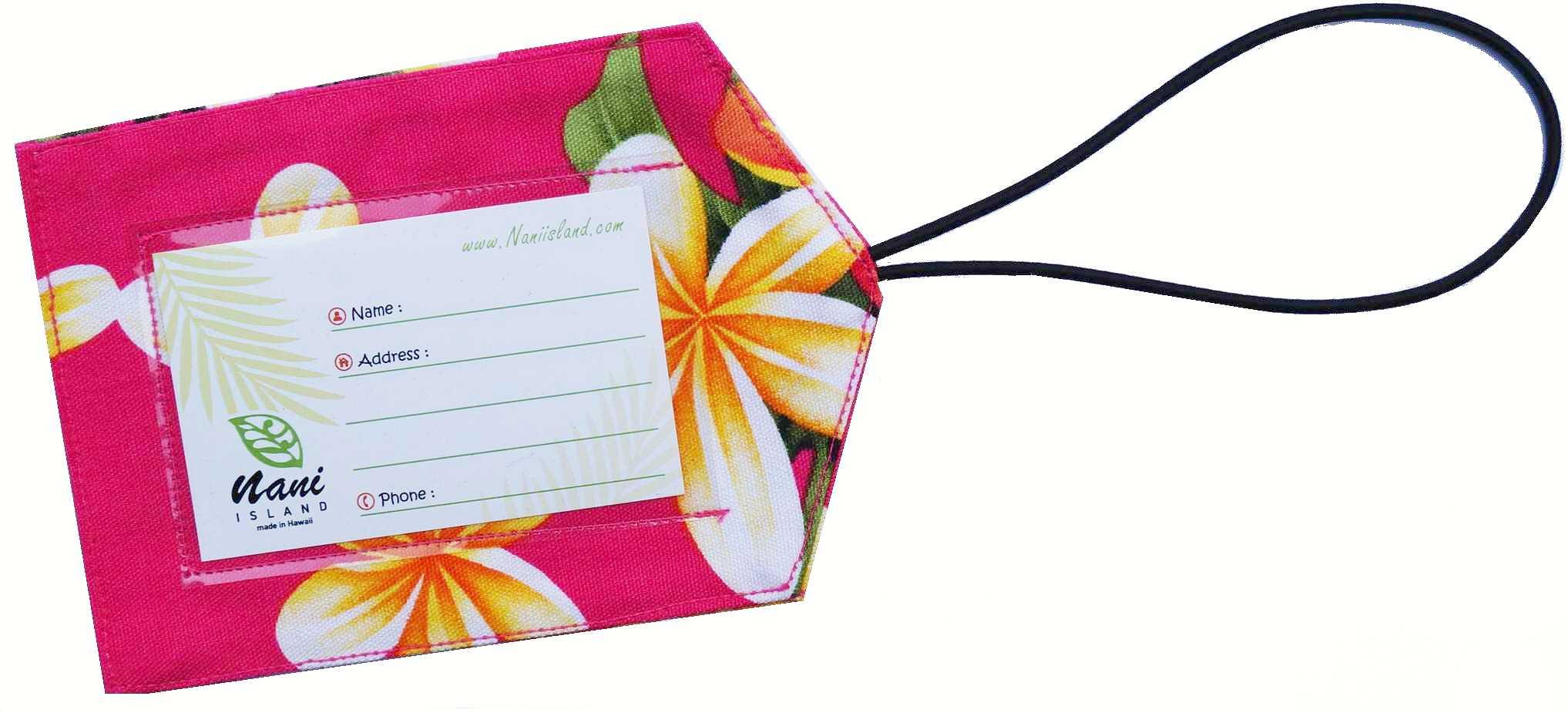Etiquette bagage made in Hawaï par CouleurTropiques com 79122288005