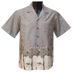 Chemise Hawaienne Bamboo Land Taupe