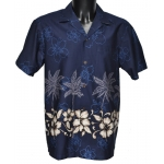 Chemise Hawaienne COCOTIERS ET HIBISCUS
